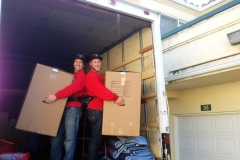 Colton and Lucas unloading in Oxnard.