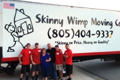Very awesome and happy customers! They wanted a picture with the crew and Skinny Wimp truck.