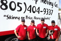 Four brothers working with Skinny Wimp Moving Co.