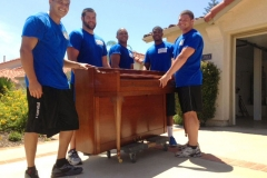 "Movers in Vista after a succesful move. As the client said ""Skinny Wimp Movers... Friendly and hard working. Thanks for doing such a great job! Liz from Vista"""